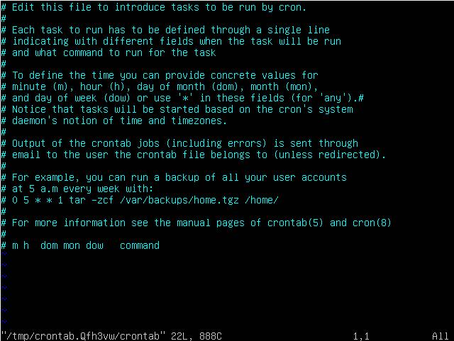 crontab -e - ubuntu